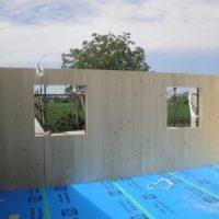 fase di montaggio pareti x-lam